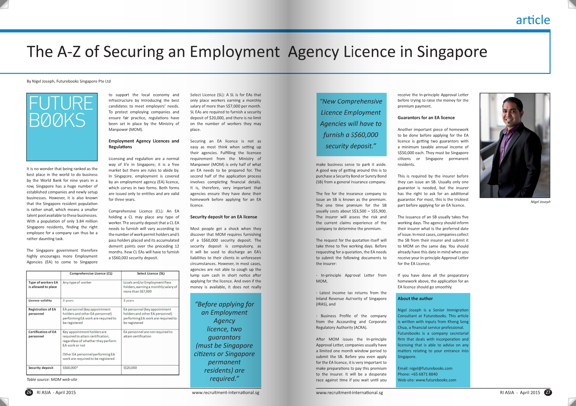 The A-Z of securing an employment agency licence in Singapore