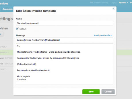 Xero product update Dec 2012 – Remittance Advice Template